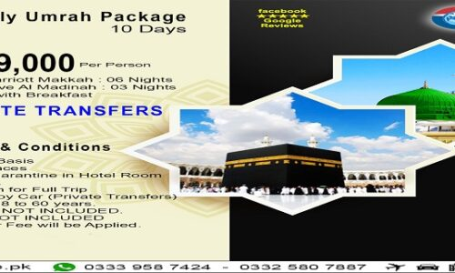 10 Days Star Family Umrah Package